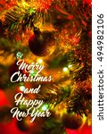 christmas and happy new year  ... | Shutterstock . vector #494982106