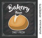 bread of bakery food design | Shutterstock .eps vector #494982970