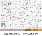 big collection of premium... | Shutterstock .eps vector #494985649