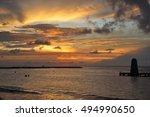 sunset beach | Shutterstock . vector #494990650