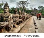 siem reap  cambodia   august... | Shutterstock . vector #494991088