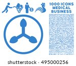 isometric arrows icon with 1000 ... | Shutterstock .eps vector #495000256