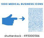 index hand icon with 1000...