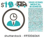 time manager icon with 1000... | Shutterstock .eps vector #495006064