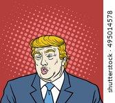 october 7  2016  donald trump...   Shutterstock .eps vector #495014578