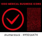 red valid vector rounded icon....