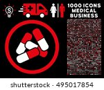 red and white pills vector... | Shutterstock .eps vector #495017854