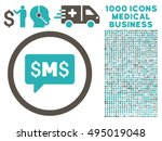 sms message icon with 1000... | Shutterstock .eps vector #495019048