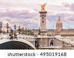 pont alexandre iii  alexandre... | Shutterstock . vector #495019168