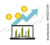 business growth funds flat... | Shutterstock .eps vector #495027259