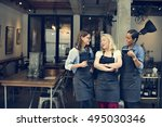 cafe friends coffee break... | Shutterstock . vector #495030346