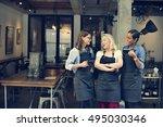 cafe friends coffee break... | Shutterstock . vector #495030346