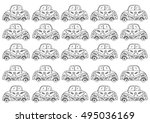 retro cars pattern   Shutterstock .eps vector #495036169