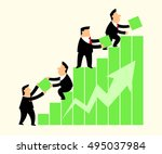 business man in business... | Shutterstock .eps vector #495037984