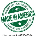 made in america green stamp | Shutterstock .eps vector #495046504