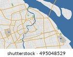 highly detailed shanghai city... | Shutterstock .eps vector #495048529