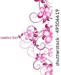 abstract flowers background... | Shutterstock .eps vector #49506619