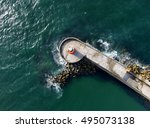 Aerial View Of Breakwater And...