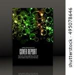 template design for cover.... | Shutterstock .eps vector #495078646