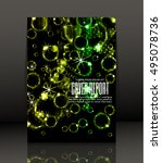 template design for cover.... | Shutterstock .eps vector #495078736