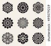 vector decorative mandala... | Shutterstock .eps vector #495079219