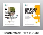 vacancy job company minimalist... | Shutterstock .eps vector #495110230
