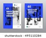 blue economy minimalist trend... | Shutterstock .eps vector #495110284