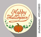 round holiday button with... | Shutterstock . vector #495128800