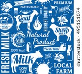 typographic vector milk... | Shutterstock .eps vector #495131074