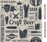 typographic vector beer... | Shutterstock .eps vector #495131248