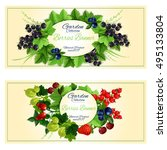 berries banners with fresh... | Shutterstock .eps vector #495133804