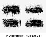 grunge banners. vector. | Shutterstock .eps vector #49513585