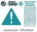 warning error icon with 1000... | Shutterstock .eps vector #495139624