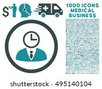 time manager icon with 1000... | Shutterstock .eps vector #495140104