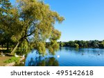 Public Roath Park Lake With Th...