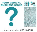 question icon with 1000 medical ... | Shutterstock .eps vector #495144034