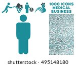 man icon with 1000 medical... | Shutterstock .eps vector #495148180