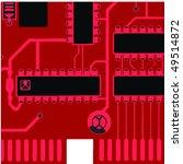 red circuit board. moth board... | Shutterstock .eps vector #49514872