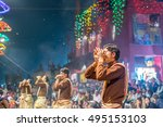varanasi  india january 14  ...   Shutterstock . vector #495153103