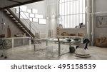 Industrial Interior  Office...