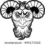 devil logo | Shutterstock . vector #495171520