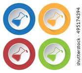 set of four colored icons  ... | Shutterstock .eps vector #495174394