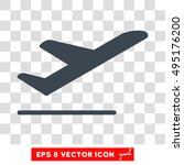vector airplane departure eps... | Shutterstock .eps vector #495176200