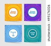 set of templates for covers... | Shutterstock .eps vector #495176326