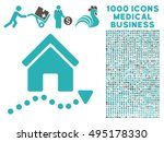 realty trend icon with 1000... | Shutterstock .eps vector #495178330