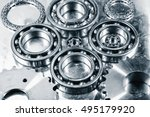 ball bearings of titanium and... | Shutterstock . vector #495179920