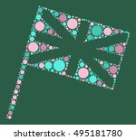 british flag shape vector... | Shutterstock .eps vector #495181780