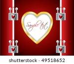 locked valentine card | Shutterstock .eps vector #49518652