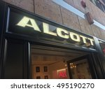 Small photo of Bari, Italy - September 29, 2016: Alcott front store. Founded in 1988, the company offers fashionable clothes for men and women at a very competitive prices in over 150 stores worldwide
