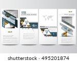 flyers set  modern banners.... | Shutterstock .eps vector #495201874